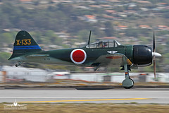 Mitsubishi A6M3 Reisen (Zero) N712Z (PhantomPhan1974 Photography) Tags: reisen bur burbank zero caf mitsubishi warbird a6m3 kbur commerativeairforce japaneseimperialnavy n712z phantomphan1974 wwwapsocalcom camarillowing