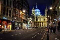 St Paul's Cathedral at night (III). London (Abariltur (Very Busy)) Tags: england london spain arquitectura unitedkingdom stpaulscathedral castelln churchofengland sirchristopherwren ludgatehill englishbaroque nikond90 vistadelondres bishopoflondon afsdxnikkor1024mmf3545ged abariltur