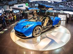 Pagani (Ciccio Pizzettaro) Tags: auto car lumix fisheye pagani gf1 worldcars genevainternationalmotorshow