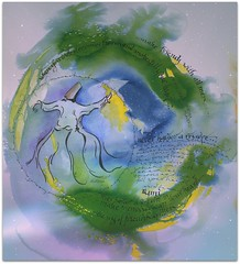 the JOY of friendship is paradise (colorfulexpressions) Tags: art watercolor easter heaven paradise 6ws friendship joy sixwordstory calligraphy dye dervish quotation doodling rumi penink lrp colorfulexpressions richardledziancalligrapherartist