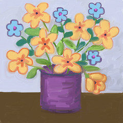 Fast Flowers (Digital Impasto) Day 2 (randubnick) Tags: stilllife art digitalart digitaloil nmpemulation painter12 digitalimpasto