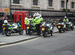 Met Police Biker Rally #3 (kenjonbro) Tags: uk england westminster work march rally protest trafalgarsquare demonstration motorbike bmw motorcycle charingcross 2012 2010 sw1 wc2 metropolitanpolice r1200rt righttowork kenjonbro fujifilmfinepixhs10 bk10xja bx59bwz bx12kfw lh12dzr
