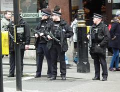 Met Police Armed Officers #2 (kenjonbro) Tags: uk england westminster trafalgarsquare police guns charingcross whitehall dpg sw1 armed metropolitanpolice kenjonbro fujifilmfinepixhs10