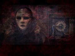 Bloody ghost portrait ( Jorge Lizana ) Tags: olympus ruina mascara abandonado mzd 1250mm sortidazz jendrix56 omdem5 piscinasrubi