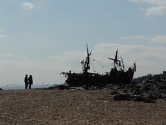The Black Pearl (DianneB 2007.) Tags: ship driftwood newbrighton blackpearlrubbish