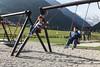 Le altalene del giardino del ristorante Sant'Orso. (Familygo) Tags: travel italy mountain children bambini viaggi montagna valledaosta cogne