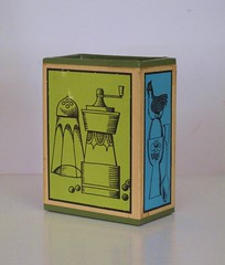 Vintage Pen and Pencil Holder 1960s (hmdavid) Tags: art kitchen modern illustration pen pencil vintage pepper mod box egg salt spoon theme 1960s holder midcentury