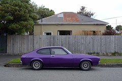 1975 Ford Capri (stephen trinder) Tags: road new christchurch house ford landscape capri purple zealand nz restored 1978 custom kiwi kerb fordcapri