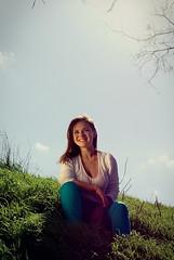 In The Sun (nickodim) Tags: portrait sun girl smile pentax k10d