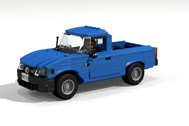 auto car truck model render pickup toyota tacoma challenge 65 cad lugnuts moc motorcity ldd foitsop toyotatacomatime