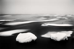 Where the Floes Flow II (Vesa Pihanurmi) Tags: winter sea blackandwhite seascape motion ice nature water monochrome fog landscape helsinki artistic minimalism lauttasaari