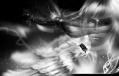 Feel yur life vibrations...  ( AyE  Cre[ART]ive Photography) Tags: portrait bw color art love colors fashion angel photoshop portraits logo photography landscapes foto image photos pics avatar profile creative profiles illustrations images sl avatars fantasy angels secondlife dreams photostudio enrique fotografia antartica emotions photoart logos avy avatares immagini