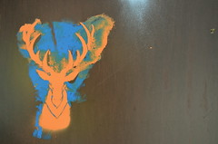 Stag (jamierbw) Tags: street orange art graffiti europe stag deer jagermeister