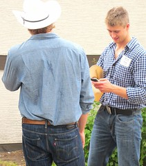 Looks good (ManontheStreet2day) Tags: boy calgary ass hat belt cowboy butt crotch twink jeans teen teenager levis cowboyhat buckle stampede bulge