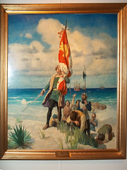 101_5474 NC Wyeth - Columbus discovers America (mgrhode1) Tags: illustration painting nc wyeth goldenageofillustration