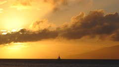 Sunset Sail (brendamb - Brenda) Tags: ocean from sunset island hawaii maui sail lanai canong11