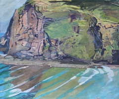 """Crackington Cliffs, Cornwall (66 x 56) • <a style=""""font-size:0.8em;"""" href=""""http://www.flickr.com/photos/93620332@N07/8664385489/"""" target=""""_blank"""">View on Flickr</a>"""