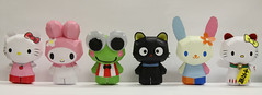 """Hello Kitty Art Show NYC 2012"" Group Shot (My Melo) Tags: hellokitty sanrio manekineko chococat papercraft luckycat keroppi mymelody usahana hellokittyhelloart hellokittyhelloartnyc"