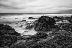 Volcanic Rock in Monochrome (Shot By Chris) Tags: monochrome lava long exposure lanzarote volcanic density neutral chrisioannou weekofapril15 52weeksthe2013edition 522013 chrisioannouportfolio