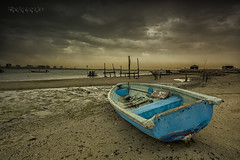 Dramatic Storm ( Hussain Frutan | www.hf-photos.net) Tags: sunset sea panorama reflection fountain yellow set night sunrise landscape dc bahrain amazing nikon 7100 harbour d sigma center reflect land 5200 kuwait 5000 nikkor 1020mm scape sunbeam hdr manama settings bahrian hussain hf     fozool hsm cloued   muharaq d5000 d7100   cloueded frutan wwwhfphotosnet