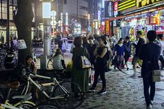 brand off (edwardpalmquist) Tags: shibuya tokyo japan travel city street urban night shopping bike bicycle crowd people man woman boy girl outdoors fashion