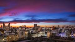 Buenos Aires (karinavera) Tags: travel nikond5300 urban sunset longexposure balvanera buenosaires night cityscape city argentina up skycrapers architecture community roofs
