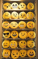 Emoticons in standby mode (ricardocarmonafdez) Tags: sevilla ciudad city urbano urban color emoticonos emoticons smileys urbanscene amarillo yellow canon 60d ricardojcf ricardocarmonafdez