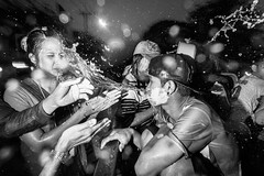 Freak Songkran 2016 / 13 (Tavepong Pratoomwong) Tags: songkran freak bangkok thailand streetphoto tavepong mad festival water people liquid flash dark girl man