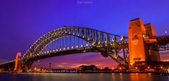 SYDNEY HARBOUR BRIDGE (Emil Damian) Tags: sydney harbour bridge city cityscapes nightshot night australia nightscapes sunset blue