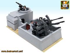 FLAK COMMAND BUNKER 01 (baronsat) Tags: lego ww2 german flak bunker new minifigs