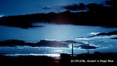 Sunset in deep blue (ntemptm) Tags: sunset deep blue cloud idyllic iluminated infrared landscape majestic naturelovers neutraldensity filters nopeople outdoor scenics sky sunsetporn tranquil