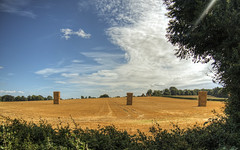 Harvested , Near Winchester (neilalderney123) Tags: 2016neilhoward winchester landscape hay straw bales harvest farm rural hampshire