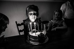 No. 8 (aamith) Tags: cake nikoned750 nikon sigmaart 24mm makeportraits candles bnw wideangle portrait blackandwhite birthday