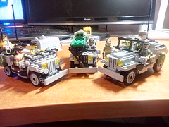 Jeep Willies VietNam era collection (ravescat) Tags: lego moc vietnam willies jeep specog tailer general major