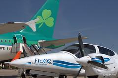 Aer Lingus FTE (14) (crgmry) Tags: aerlingus fte aerlingusfte airbusa320 a320 aeropuertodejerez jerez aeropuerto airport jerezairport flighttrainingeurope da42 diamond diamondda42