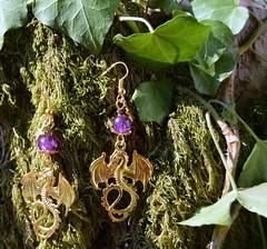 DSC_0185-1 (Chaumurky) Tags: jewelry jewellery bijoux fantasyjewelry dragon earrings dragonearrings dragonjewelry
