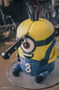Game of... Minions (O-KLR Photographie) Tags: minions minion got gameofthrones knife couteau cut coupure blessure injury cake gateau fete birthday ouch head tete