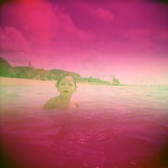 Arambaré - RS (iugmoura) Tags: arambaré rs fevereiro de 2016 fuji astia 100f holga 120gn fujifilm fujichrome toy camera analog vintage light leak burn lake river sea water summer brasil brazil film shootfilm xpro crossprocessing lomo lomography
