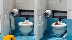 Public toilet playset (-derjoe-) Tags: joachim klang toilette water closet brown frog public toilet der derjoe joe lego book tricks heel verlag