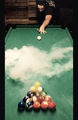 Smoky billiards (Erik McKane) Tags: mckanespub mckanephotography smokybilliards vape billiards