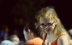 Happiness (Duncan Carel) Tags: portrait mercer university macon georgia ga football girl blond glasses happy