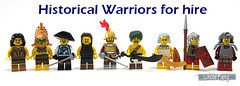 Historical Warriors for hire (WhiteFang (Eurobricks)) Tags: lego collectable minifigures series city town space castle medieval ancient god myth minifig distribution ninja history cmfs sports hobby medical animal pet occupation costume 16 disney historic yellow food pirates arctic halloween haunted devil nexo knights forest forestman wolfpack classic