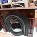 Mahogany framed fireplace