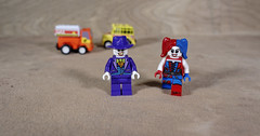 The Joker and Harley step out (Busted.Knuckles) Tags: home toys lego minifigures joker harleyquinn pentaxk3 dxoopticspro11