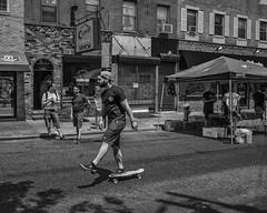 Near Passyunk Ave., 2016 (Alan Barr) Tags: philadelphia 2016 passyunk southphiladelhia southphilly street sp streetphotography streetphoto blackandwhite bw blackwhite mono monochrome candid people city urban ricoh gr