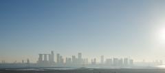Abu Dhabi skyline (jakobplaschke) Tags: abu dhabi uae united arab emirates skyline travel buildings architecture overview view city metropolis skyscrapers sky water blue light day sun
