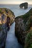 Castro de las Gaviotas I (davidmp93) Tags: costa asturiana asturias mar playas llanes waves sunset amanecer beach longexposure acantilados cueva españa nikon d3300 nikonistas