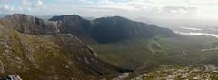 The Glencoaghan horseshoe: looking over Glencoaghan from Bengower (Binn Gabhar) (Mumbles Head) Tags: ireland eire connemara mayo glencoaghan gleannchochan mountains horseshoe thetwelvebens twelvepins