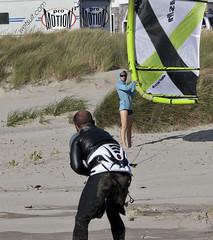 Motion Crop (eyepiphany) Tags: surf surfing communication windsurfing oregoncoast harness wetsuit manzanita teamwork manzanitabeach manzanitaoregon windsurfingontheoregoncoast windsurfingcouple windsurfingharness