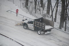 Skidmore College Grounds Services Snow Plow (zamboni-man) Tags: county winter snow ice weather yellow fire hall nemo saratoga parking lot police case safety more walkway fisher dinning snowing plow plowing grounds storn channel skidmore skid sanding slat sander facilities whelen
